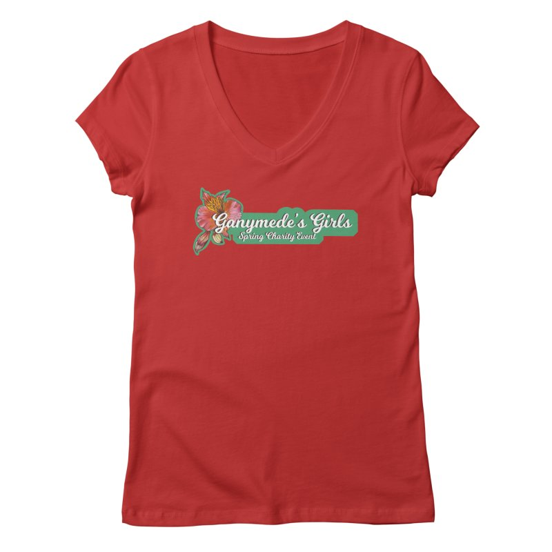 Spring Charity 2019 Women's Regular V-Neck by ganymedesgirlscommunity's Artist Shop