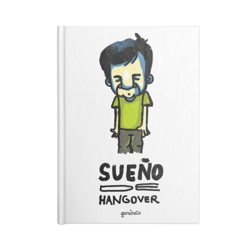 Sueño de Hangover Accessories Notebook by garabato's Artist Shop