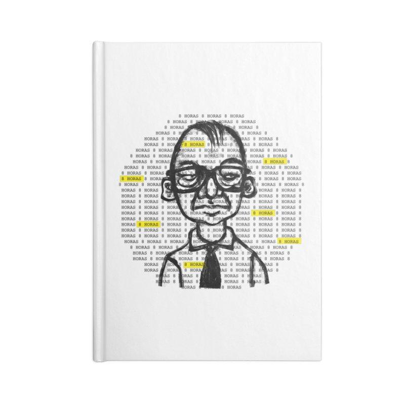 8 HORAS Accessories Blank Journal Notebook by garabato's Artist Shop