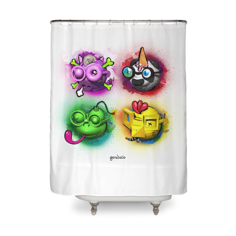 Humanimals Home Shower Curtain by garabato's Artist Shop