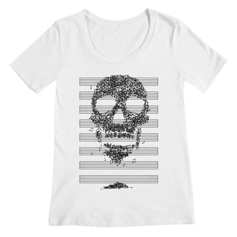 Death Song Women's Scoopneck by garabattos's Artist Shop