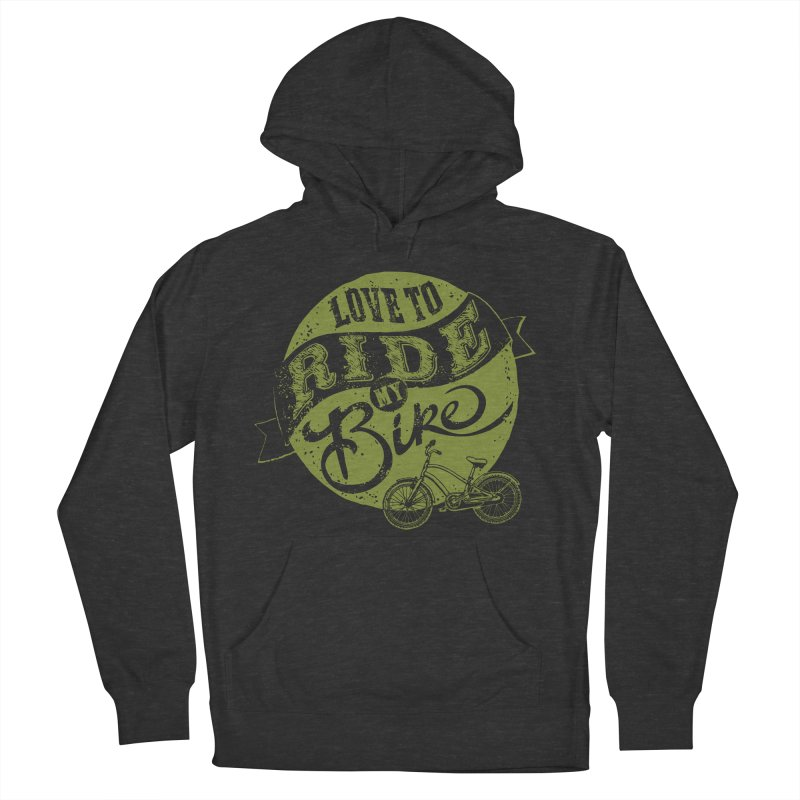 Ride my bike Women's Pullover Hoody by garabattos's Artist Shop