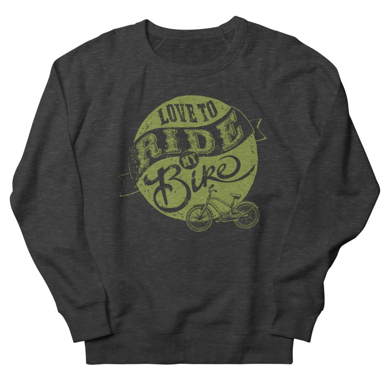 Ride my bike Women's Sweatshirt by garabattos's Artist Shop