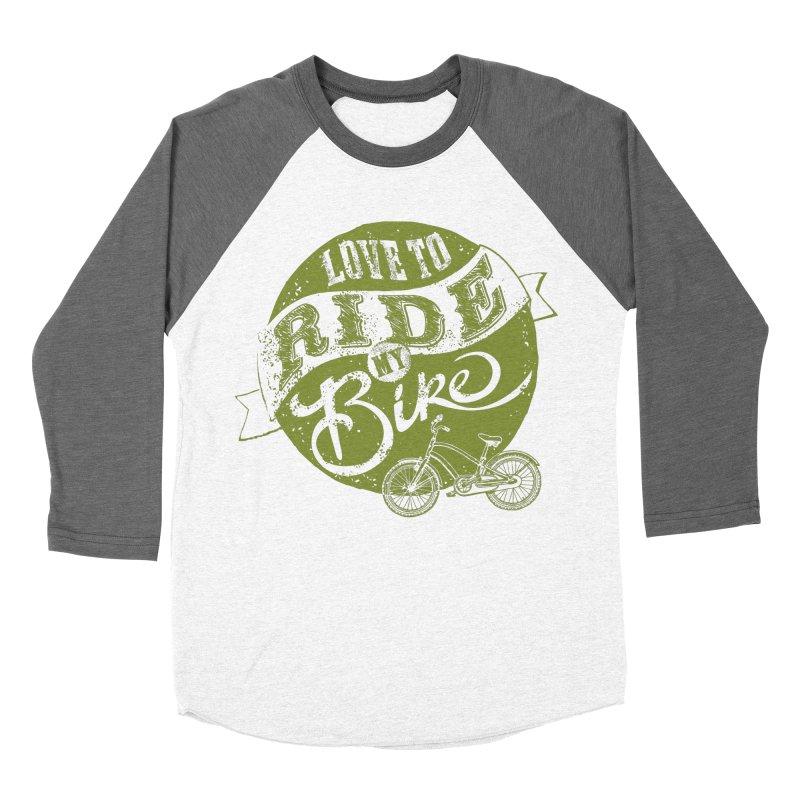 Ride my bike Men's Baseball Triblend T-Shirt by garabattos's Artist Shop