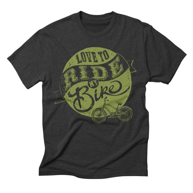 Ride my bike Men's Triblend T-shirt by garabattos's Artist Shop