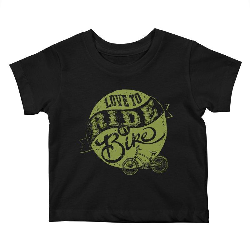 Ride my bike Kids Baby T-Shirt by garabattos's Artist Shop