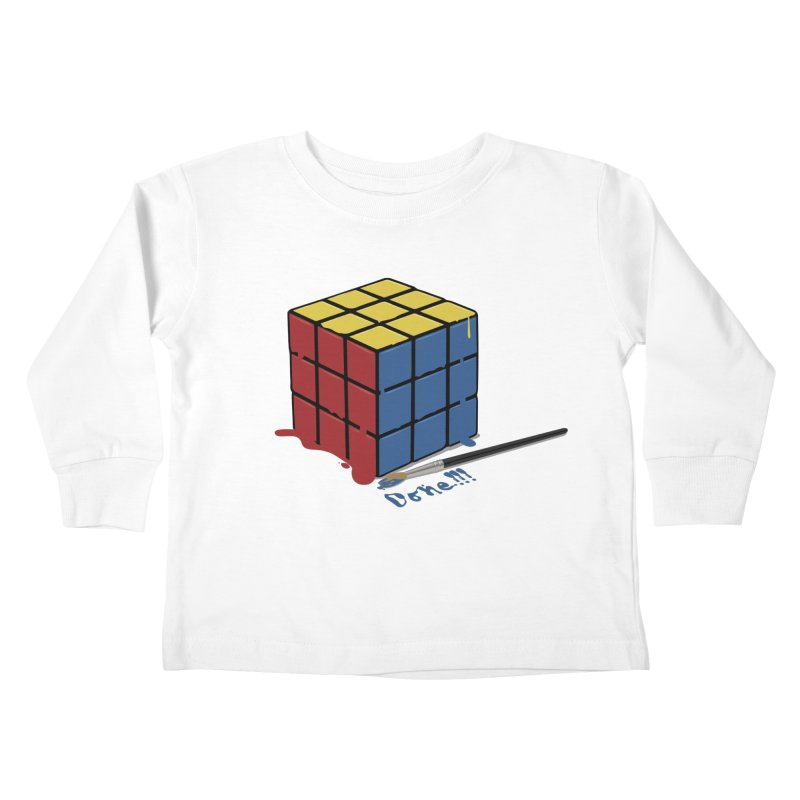 Done!!! Kids Toddler Longsleeve T-Shirt by garabattos's Artist Shop