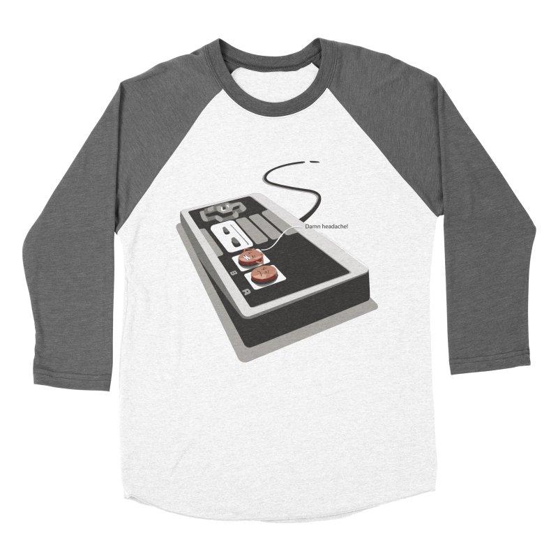 Headache Men's Baseball Triblend T-Shirt by garabattos's Artist Shop