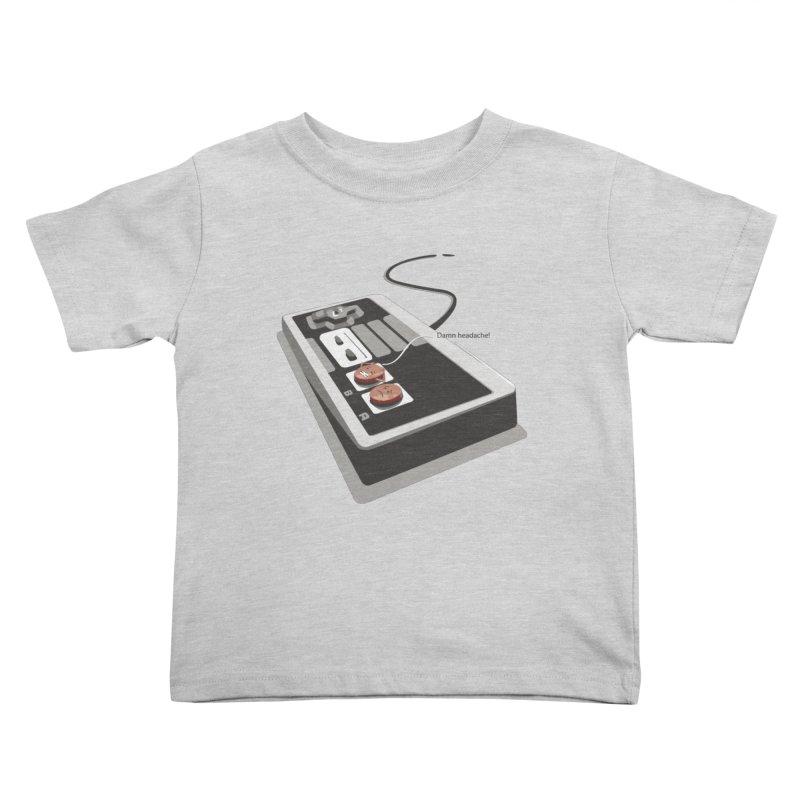 Headache Kids Toddler T-Shirt by garabattos's Artist Shop