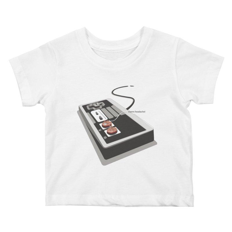 Headache Kids Baby T-Shirt by garabattos's Artist Shop