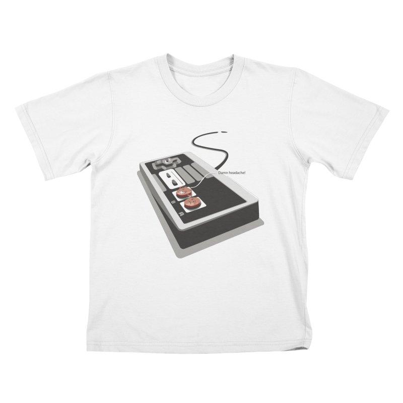 Headache Kids T-Shirt by garabattos's Artist Shop