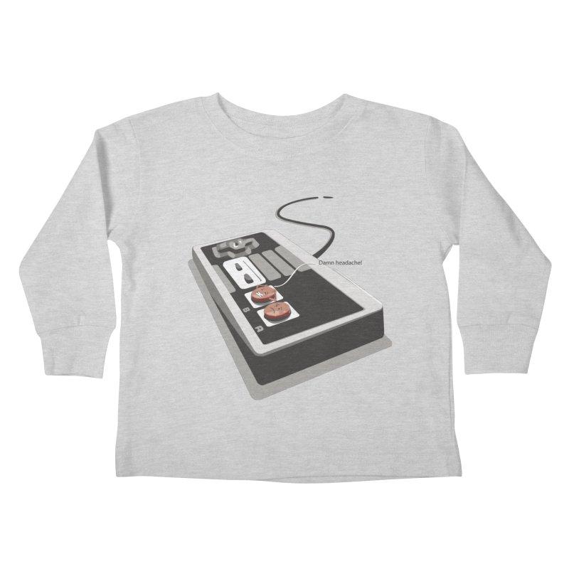 Headache Kids Toddler Longsleeve T-Shirt by garabattos's Artist Shop