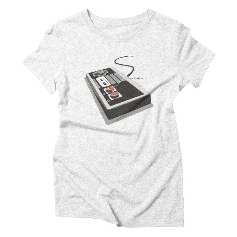 Headache Women's Triblend T-shirt by garabattos's Artist Shop