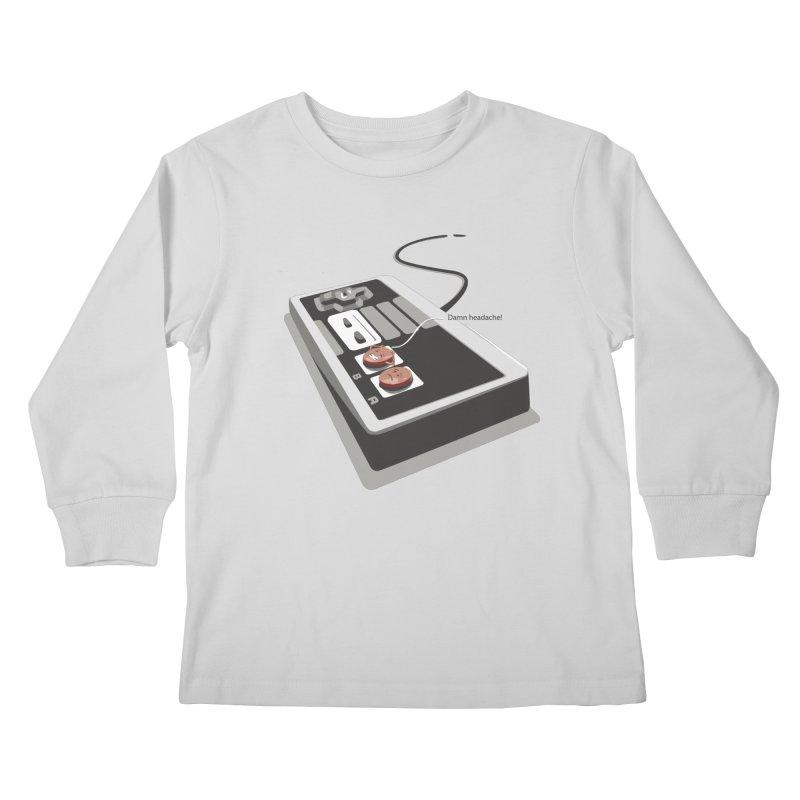Headache Kids Longsleeve T-Shirt by garabattos's Artist Shop