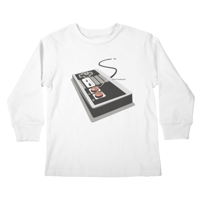 Headache Kids Longsleeve T-Shirt by garabattos's Artist Shop