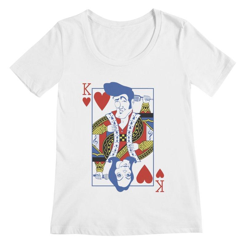 Kings of hearts Women's Scoopneck by garabattos's Artist Shop