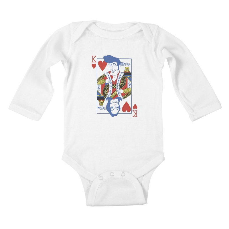 Kings of hearts Kids Baby Longsleeve Bodysuit by garabattos's Artist Shop