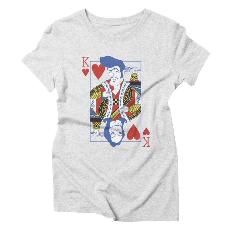 Kings of hearts Women's Triblend T-Shirt by garabattos's Artist Shop