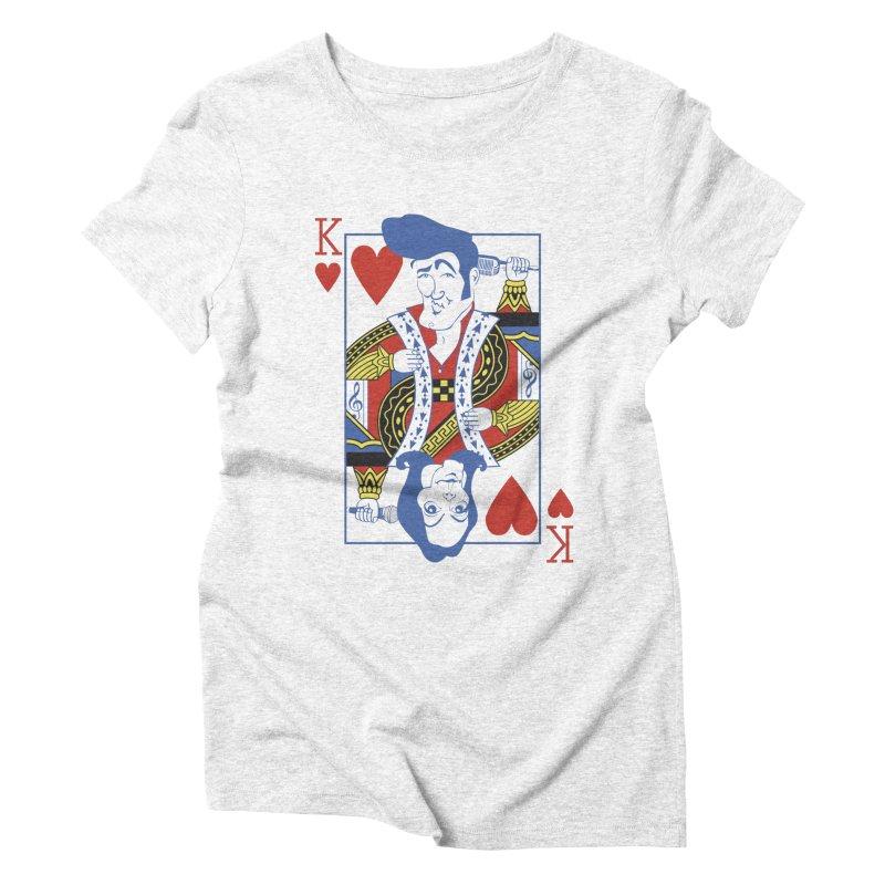 Kings of hearts Women's Triblend T-shirt by garabattos's Artist Shop