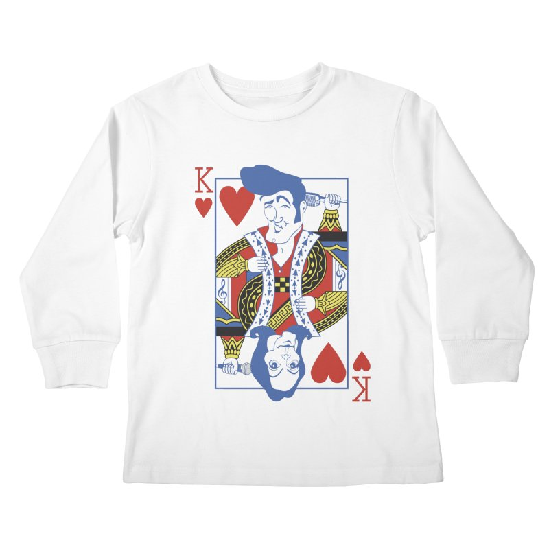 Kings of hearts Kids Longsleeve T-Shirt by garabattos's Artist Shop