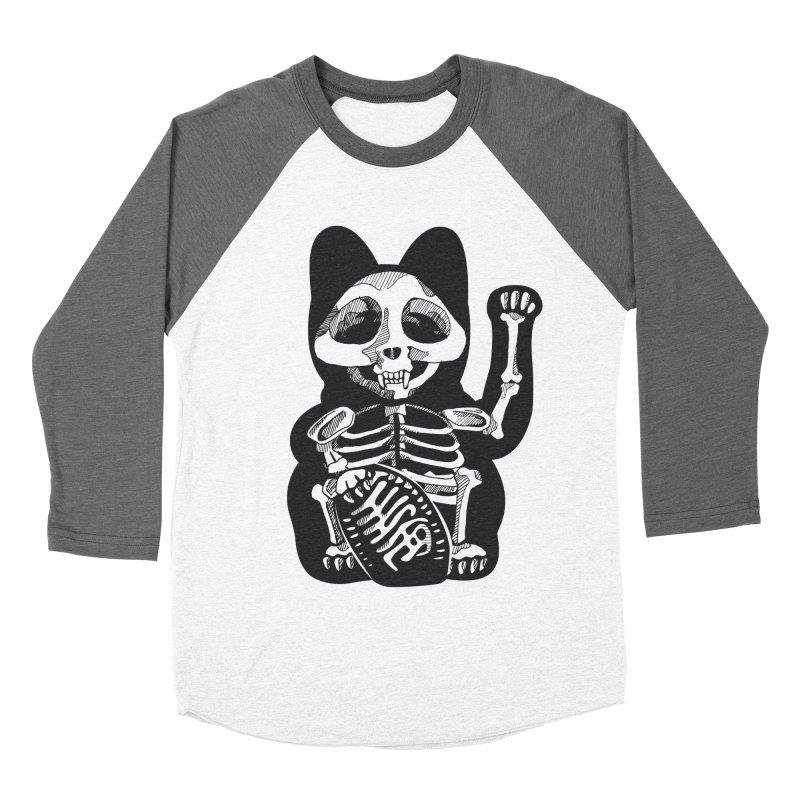 Maneki neko Women's Baseball Triblend T-Shirt by garabattos's Artist Shop