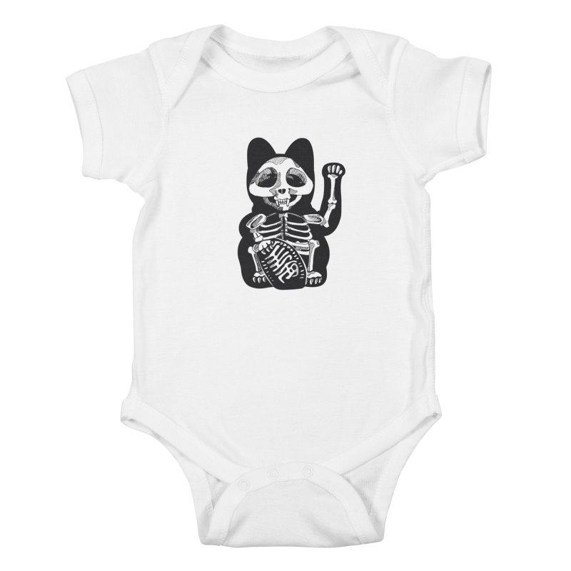 Maneki neko Kids Baby Bodysuit by garabattos's Artist Shop