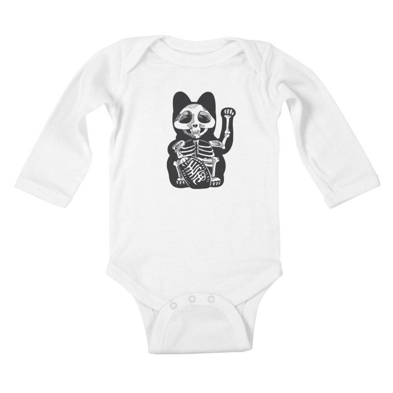 Maneki neko Kids Baby Longsleeve Bodysuit by garabattos's Artist Shop
