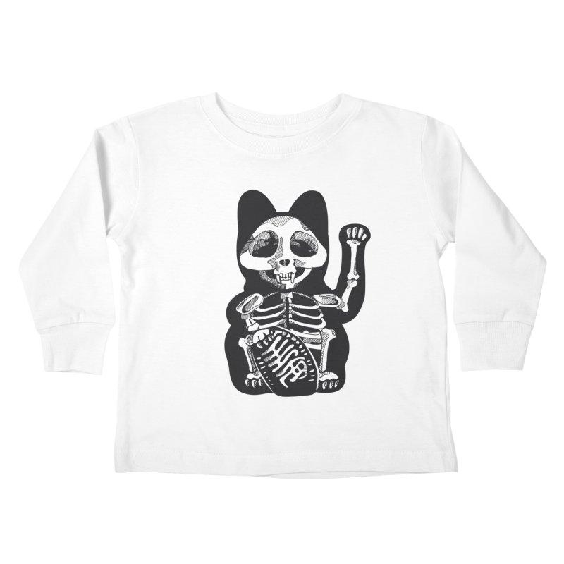 Maneki neko Kids Toddler Longsleeve T-Shirt by garabattos's Artist Shop