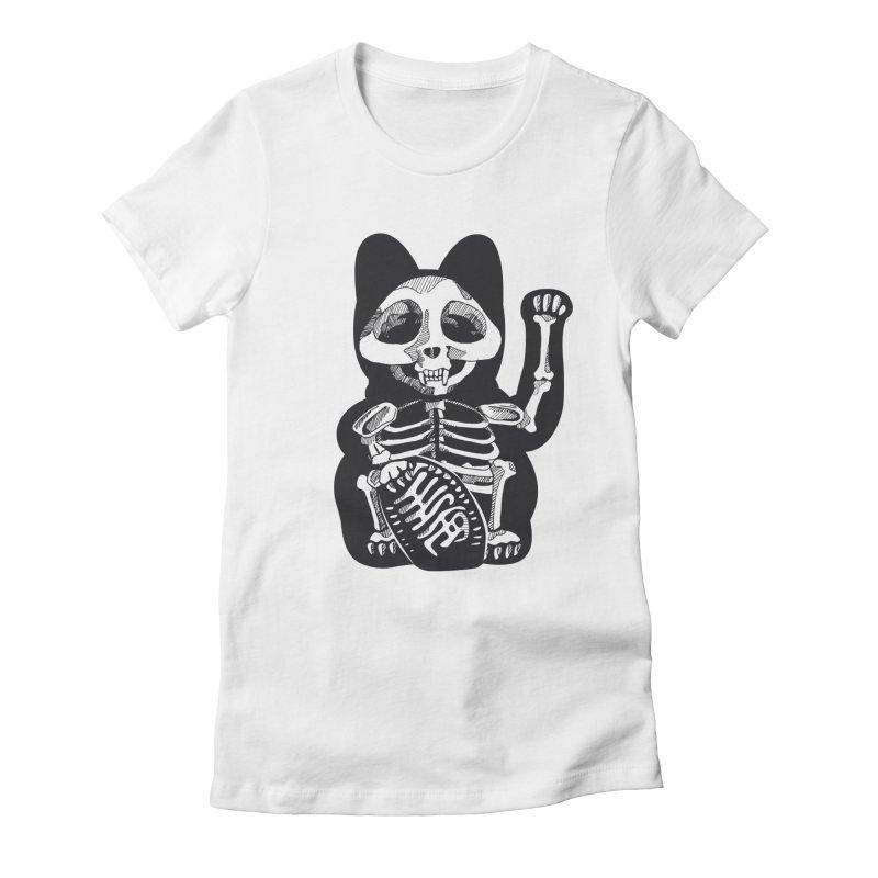 Maneki neko Women's Fitted T-Shirt by garabattos's Artist Shop