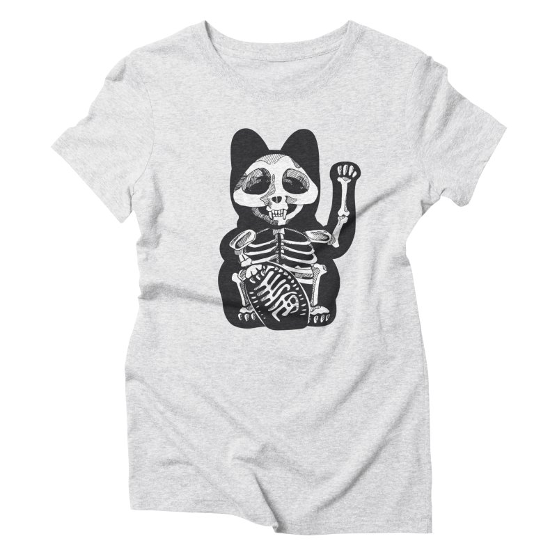 Maneki neko Women's Triblend T-Shirt by garabattos's Artist Shop