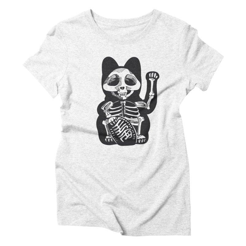 Maneki neko Women's Triblend T-shirt by garabattos's Artist Shop
