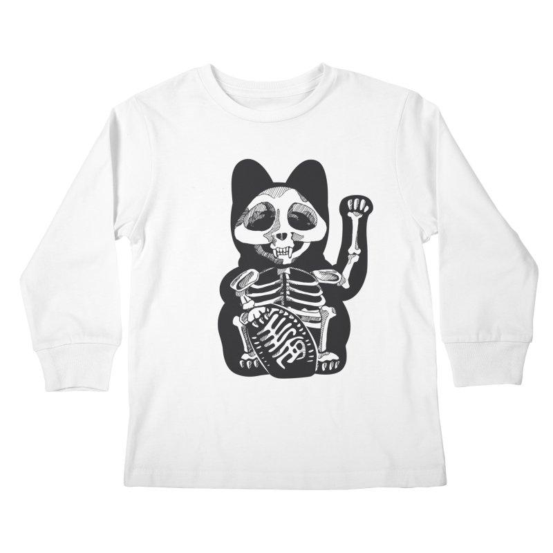 Maneki neko Kids Longsleeve T-Shirt by garabattos's Artist Shop