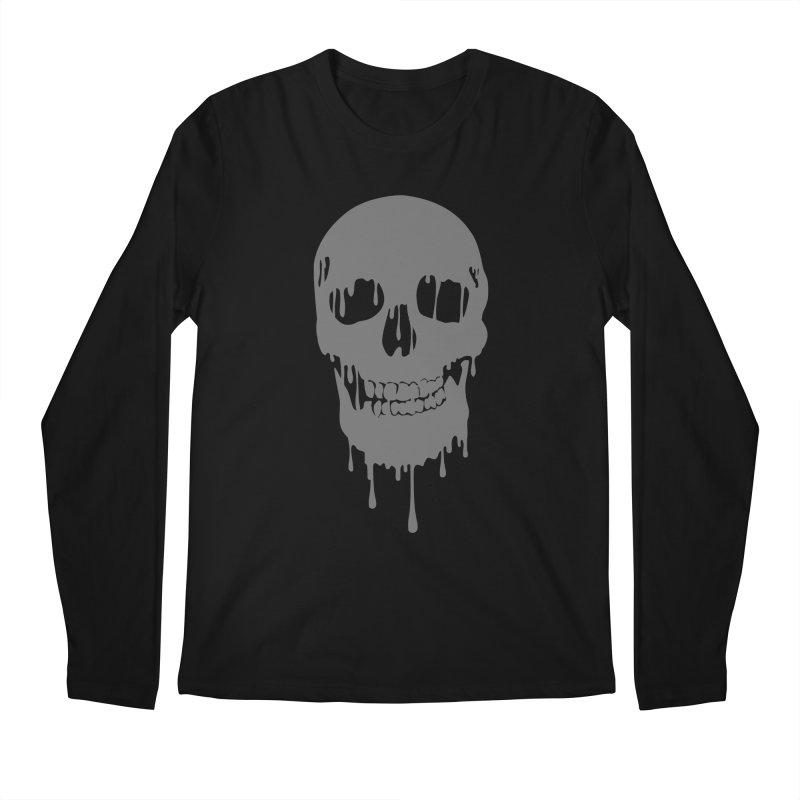 Melted skull Men's Longsleeve T-Shirt by garabattos's Artist Shop