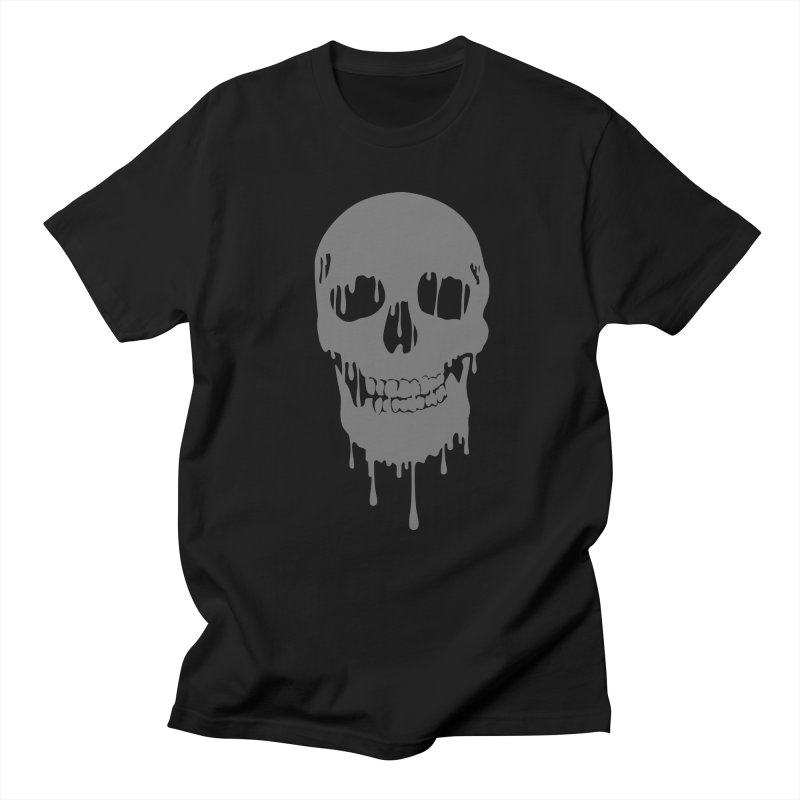 Melted skull Men's T-shirt by garabattos's Artist Shop