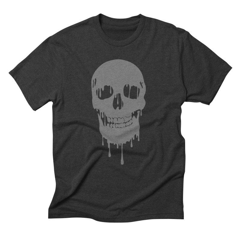 Melted skull Men's Triblend T-Shirt by garabattos's Artist Shop