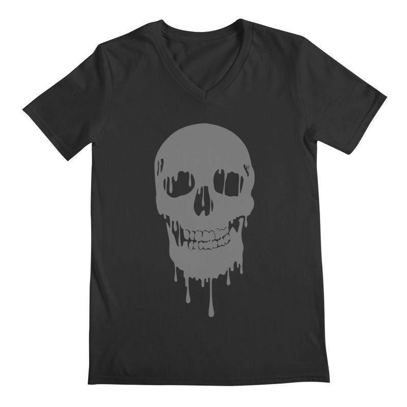 Melted skull Men's V-Neck by garabattos's Artist Shop