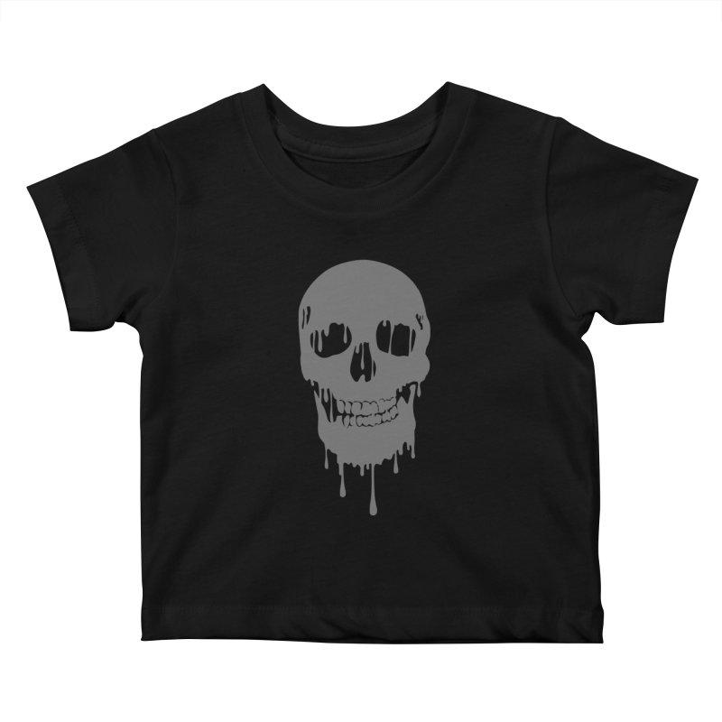 Melted skull Kids Baby T-Shirt by garabattos's Artist Shop