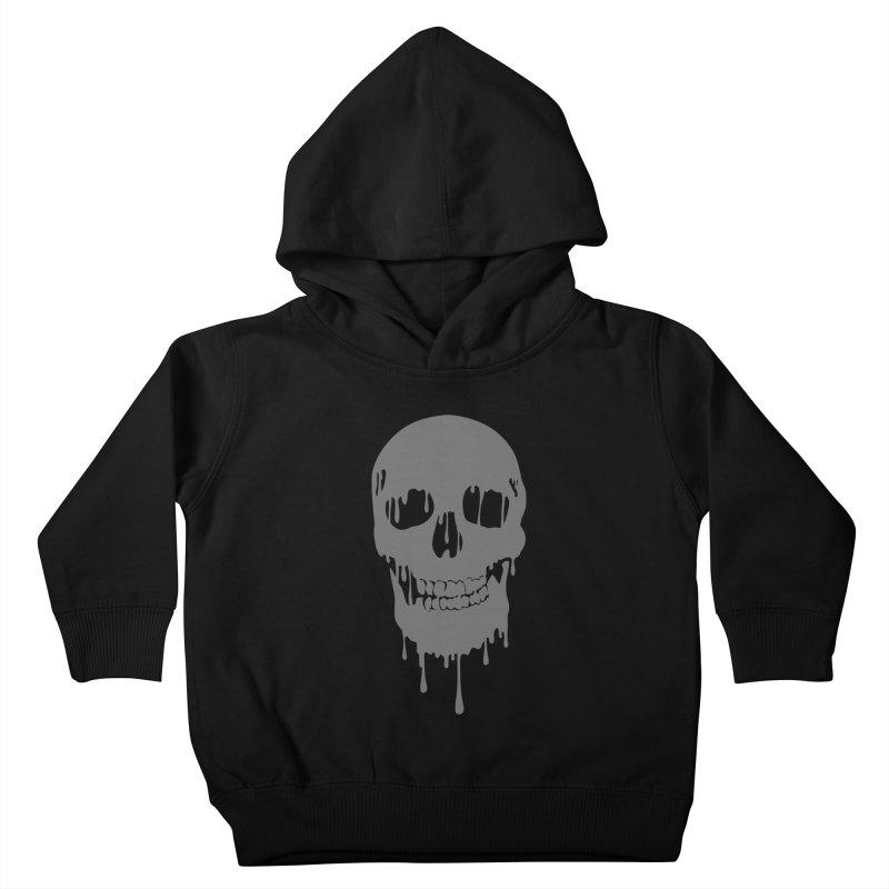 Melted skull Kids Toddler Pullover Hoody by garabattos's Artist Shop