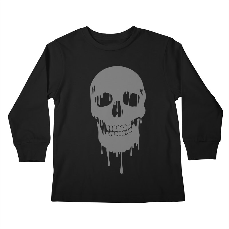 Melted skull Kids Longsleeve T-Shirt by garabattos's Artist Shop