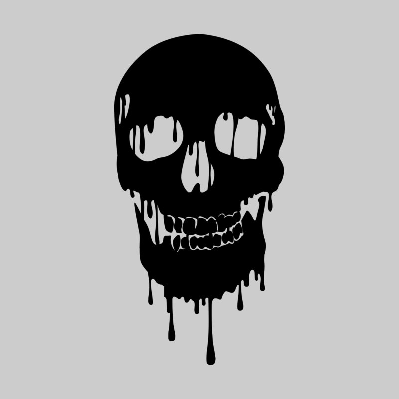 Melted skull - bk by garabattos's Artist Shop