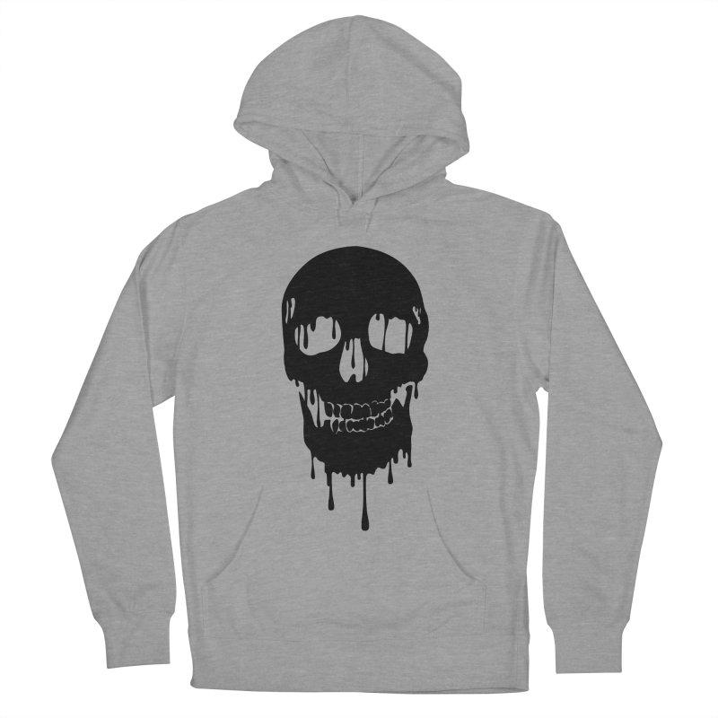 Melted skull - bk Men's Pullover Hoody by garabattos's Artist Shop