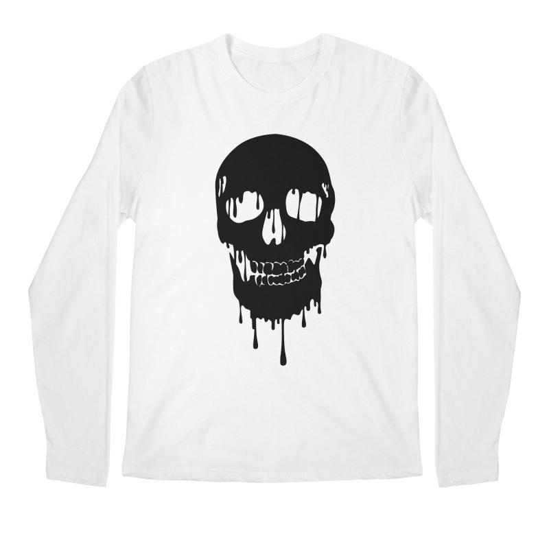 Melted skull - bk Men's Longsleeve T-Shirt by garabattos's Artist Shop