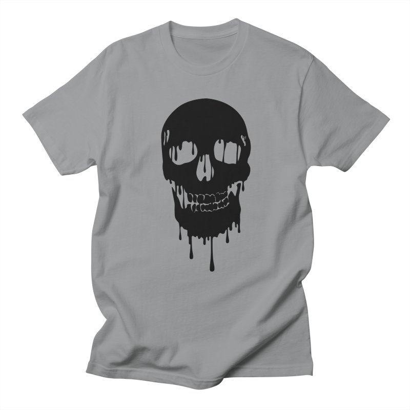Melted skull - bk Men's T-Shirt by garabattos's Artist Shop