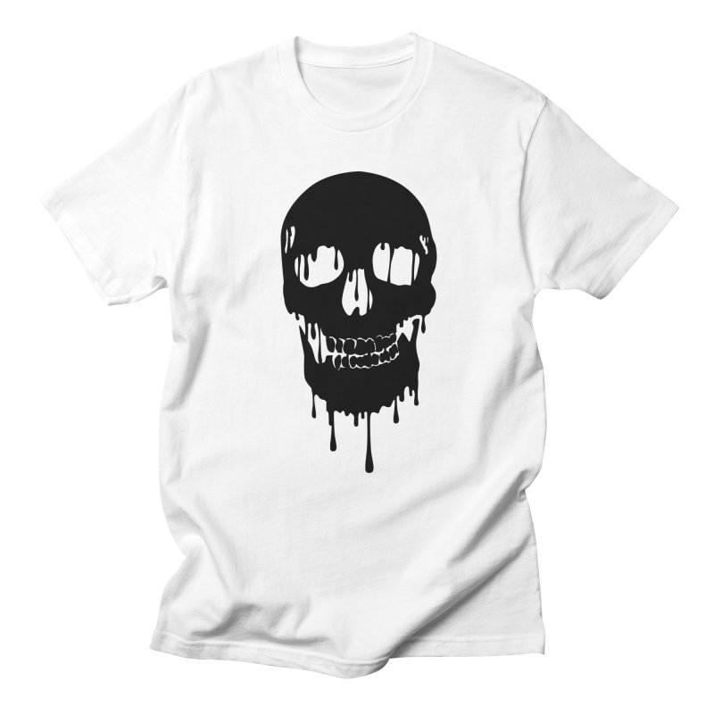 Melted skull - bk Men's T-shirt by garabattos's Artist Shop