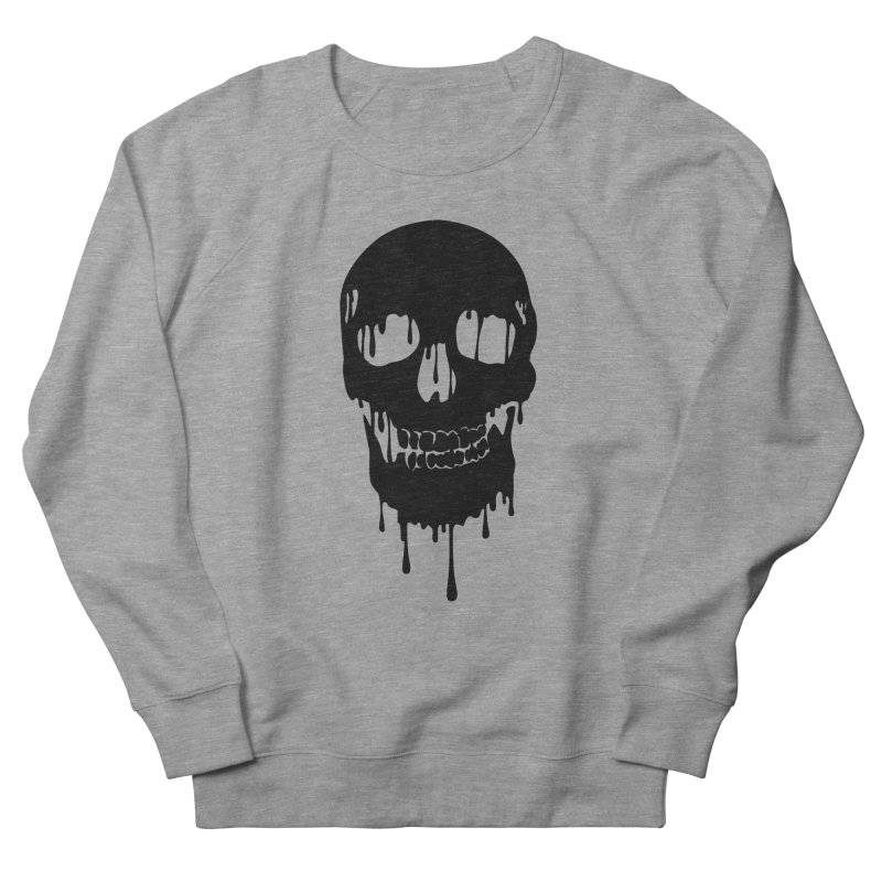 Melted skull - bk Men's Sweatshirt by garabattos's Artist Shop