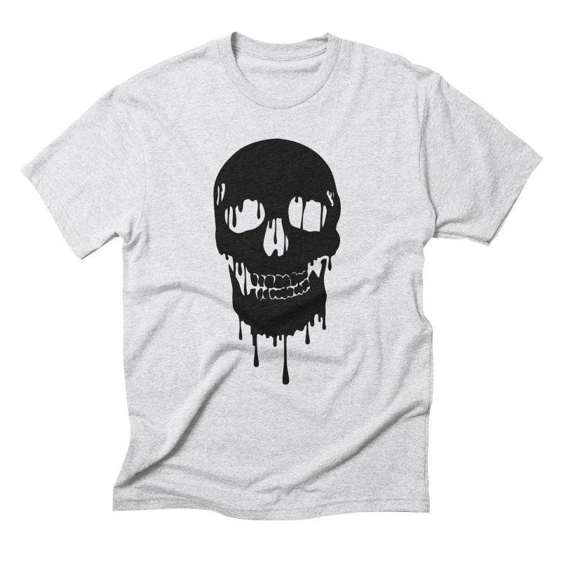 Melted skull - bk Men's Triblend T-Shirt by garabattos's Artist Shop