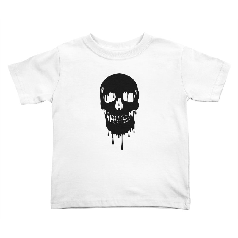 Melted skull - bk Kids Toddler T-Shirt by garabattos's Artist Shop