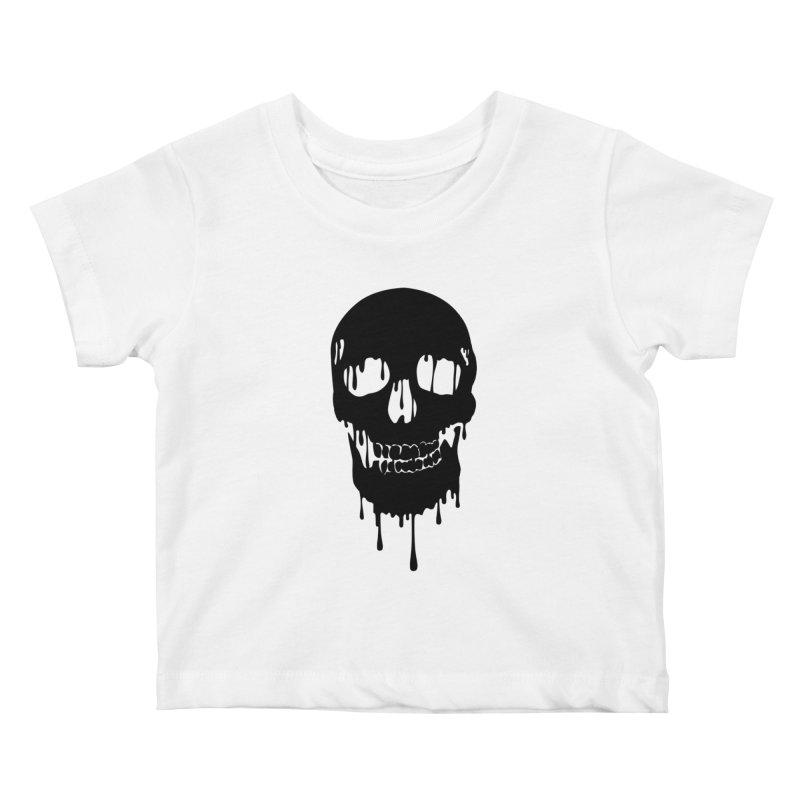 Melted skull - bk Kids Baby T-Shirt by garabattos's Artist Shop
