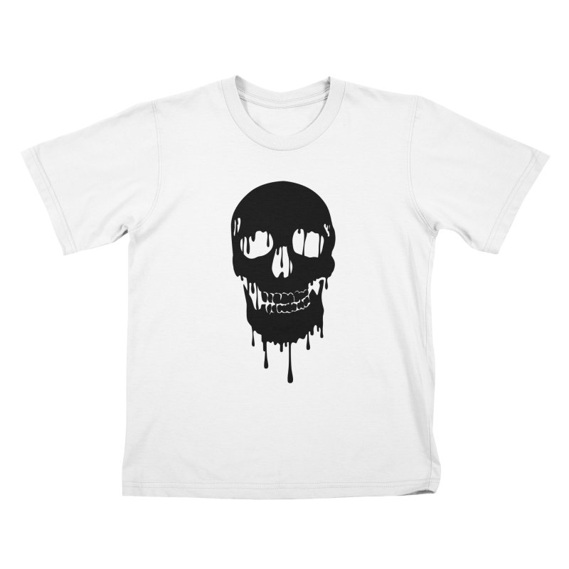 Melted skull - bk Kids T-Shirt by garabattos's Artist Shop