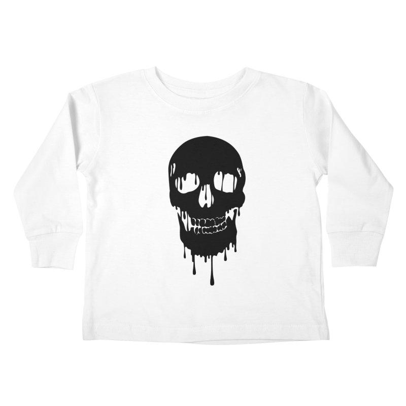Melted skull - bk Kids Toddler Longsleeve T-Shirt by garabattos's Artist Shop